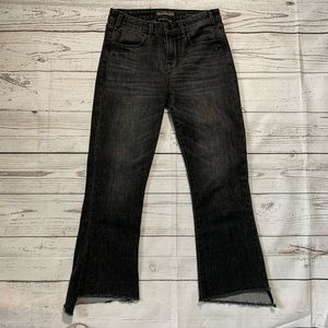 Abercrombie & Fitch high rise cropped flare jean